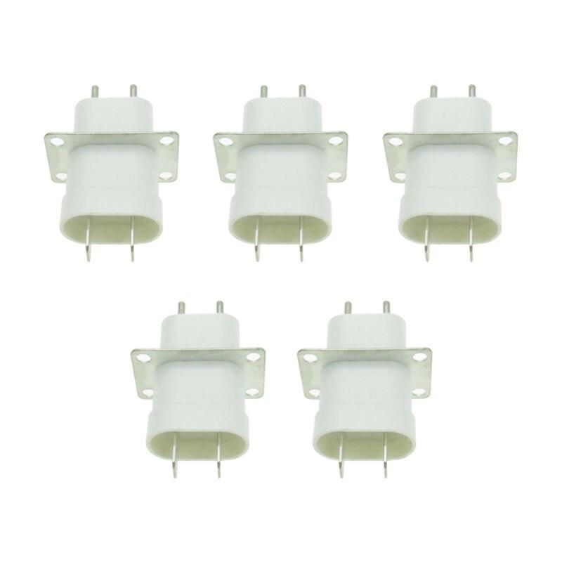5Pcs Elektronische Magnetron Magnetron Plug 4 Filament Pin Sockets Converter Thuis Magnetron Onderdelen