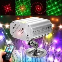 led projector stage light voice control music rhythm flash light strobe laser show dj disco xmas party nightlight stage lighting