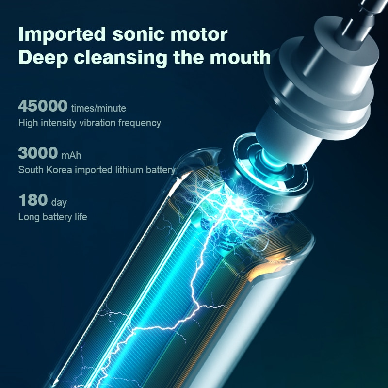 Lenovo Electric Toothbrush IPX7  Waterproof Wireless Charging Sterilization Brush Head Plaque Removal Adult Sonic Toothbrush enlarge