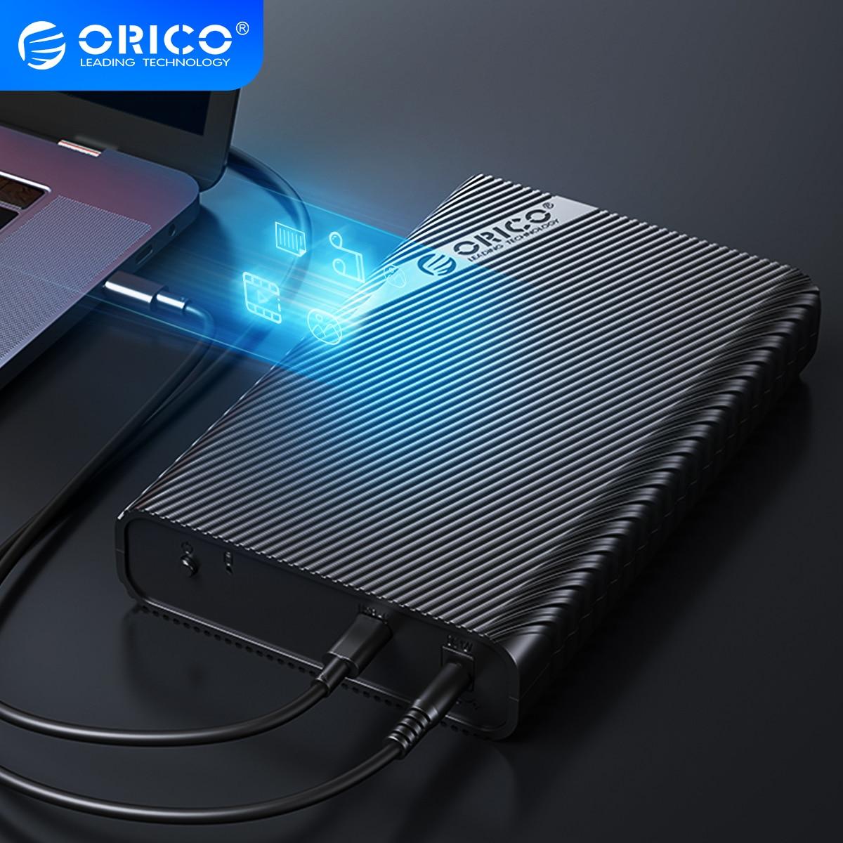 Корпус внешнего жесткого диска ORICO 3,5 дюйма с USB 3,0 на SATA 3,0 чехол для жесткого диска 2,5/3,5 HDD Box с поддержкой диска емкостью 18 ТБ