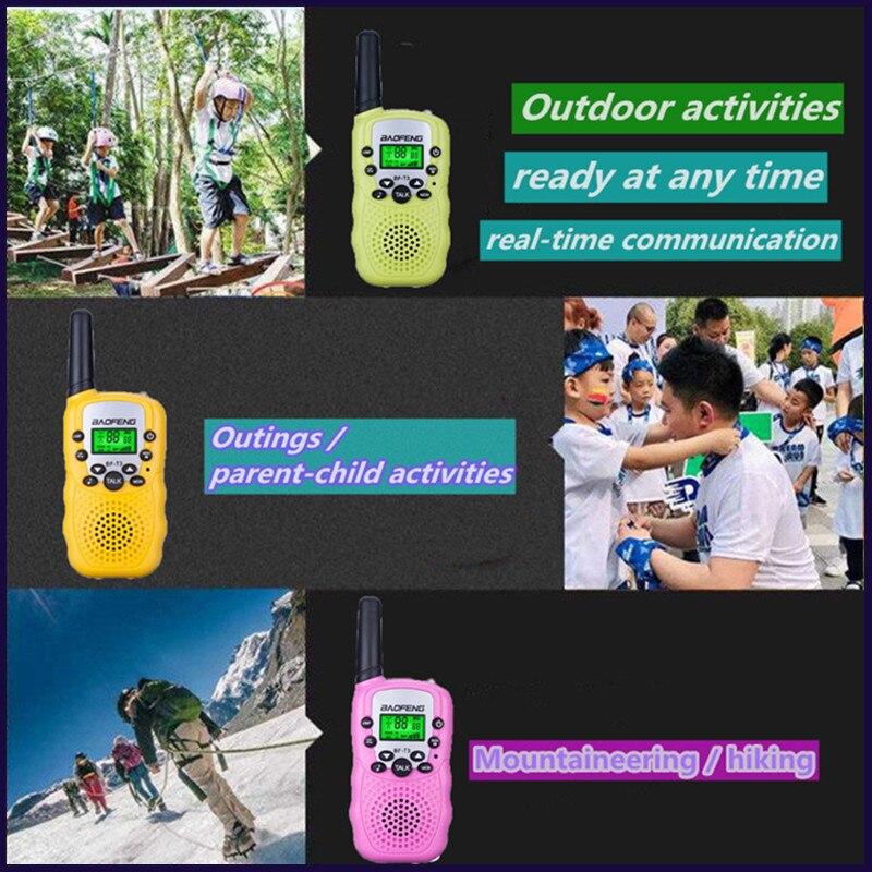 Оптовая продажа, детская мини-рация УВЧ для детей, портативная рация, двусторонняя радиосвязь, портативная рация T3, КВ трансивер