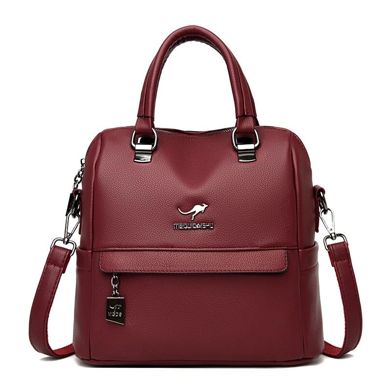 Новый многофункциональный рюкзак для девочек Mochila, женский рюкзак, винтажный рюкзак, Брендовые женские кожаные рюкзаки, повседневные сумки ...