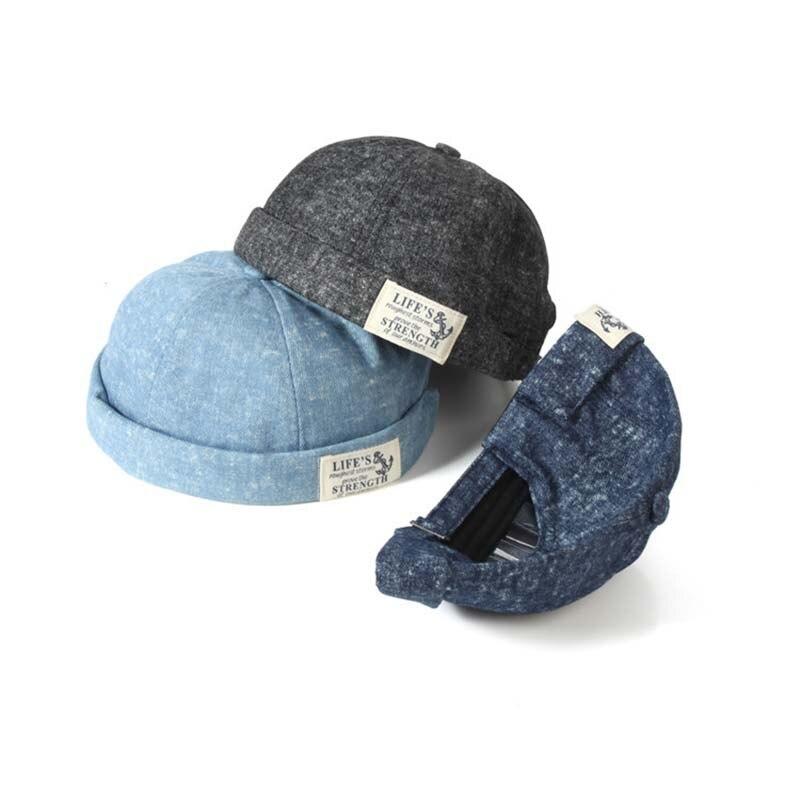 Модная мужская шапка Docker, шапка в стиле ретро, Матросская шапка, облегающие шапки, мужская и женская теплая Панама, шапка без козырька, шапка,...