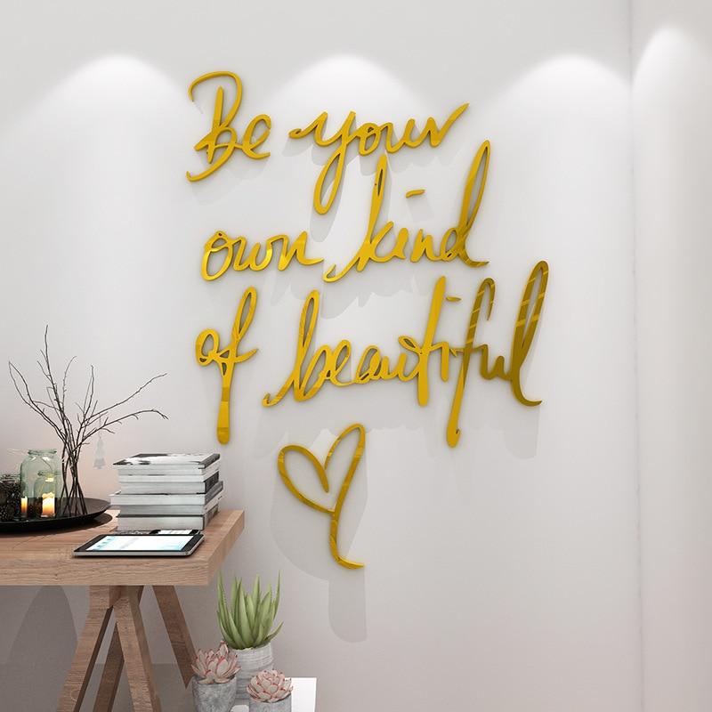 Виниловый фон с надписью «Be your kind of beautiful Decal» для украшения гостиной