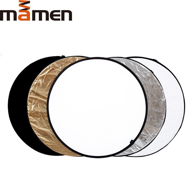 60cm 5 en 1 Reflector plegable redondo de luz Multi disco de fotografía estudio de vídeo foto Handhold disco de foto portátil