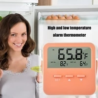 LED Screen Alarm Thermometer Temperature Measuring Tool Automatic Electronic Temperature Monitor Clock for Smart Home Fridge