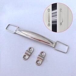 Punho do metal de 2 pces para luaggage, material do punho do saco de diy acabamento da cor do níquel para a venda