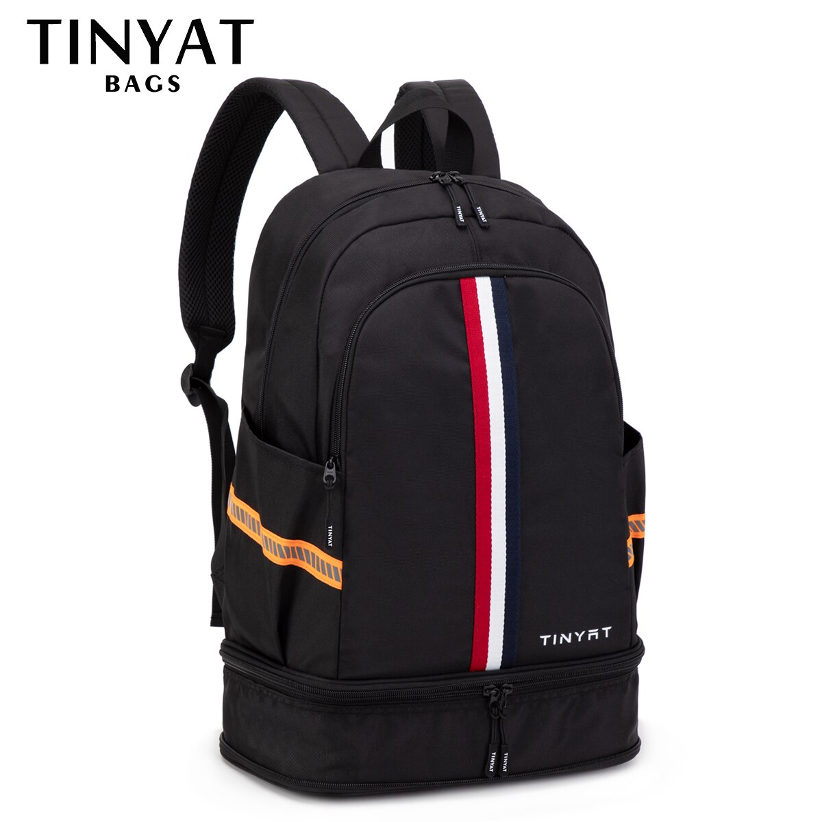 TINYTA Men's backpack Male bag Large Sports Travel backpack Shoes Bag Folded Fitness Backpack School