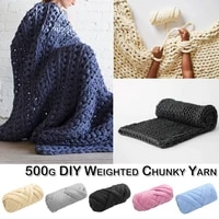500gball handmade diy knitting yarn chunky weighted line for winter blanket hat scarf solid soft thickness line crochet yarn