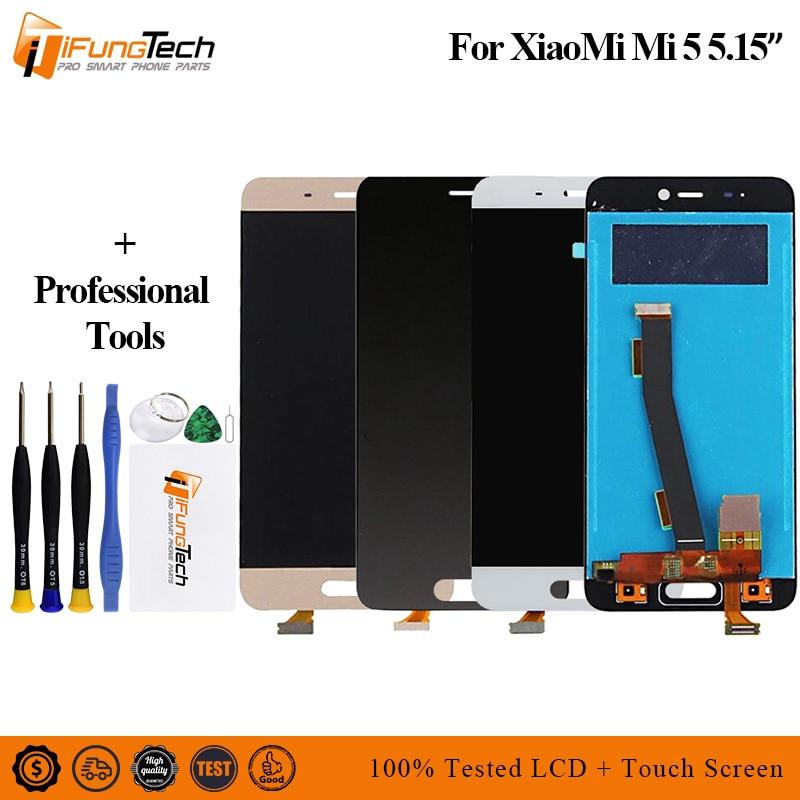Digitalizador táctil de pantalla LCD sin logotipo para Xiaomi Mi 5 con reemplazo de montaje de marco para pantalla LCD Xiaomi 5 Mi5 Mi 5