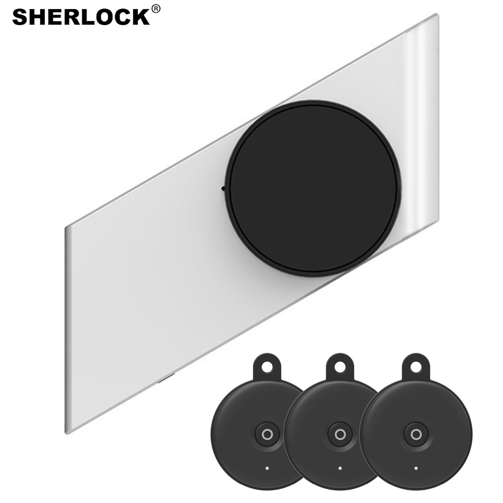 Get 3pcs Bluetooth-compatible Key of  S3 Sherlock Smart Lock  Home Keyless Lock Bluetooth-compatible Wireless Phone App Control