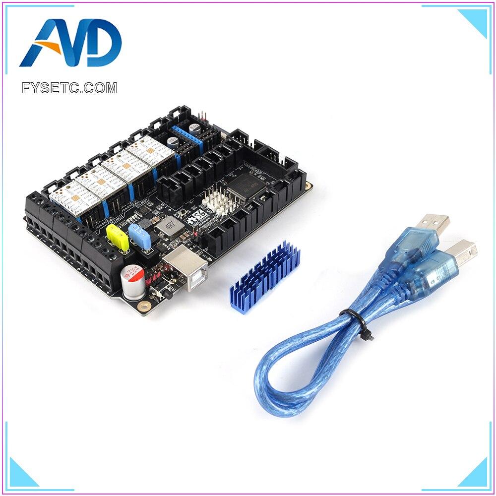 S6 V1.2 Placa de Control de 32 bits con 4 Uds. TMC2208 controlador de Motor paso a paso UART Flying Wire MX conector VS F6 SKR V1.3