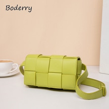 Boderry 2021 New Arrivals Leather Weaving Small Shoulder Bags High Capacity Handbags Simple And Exqu