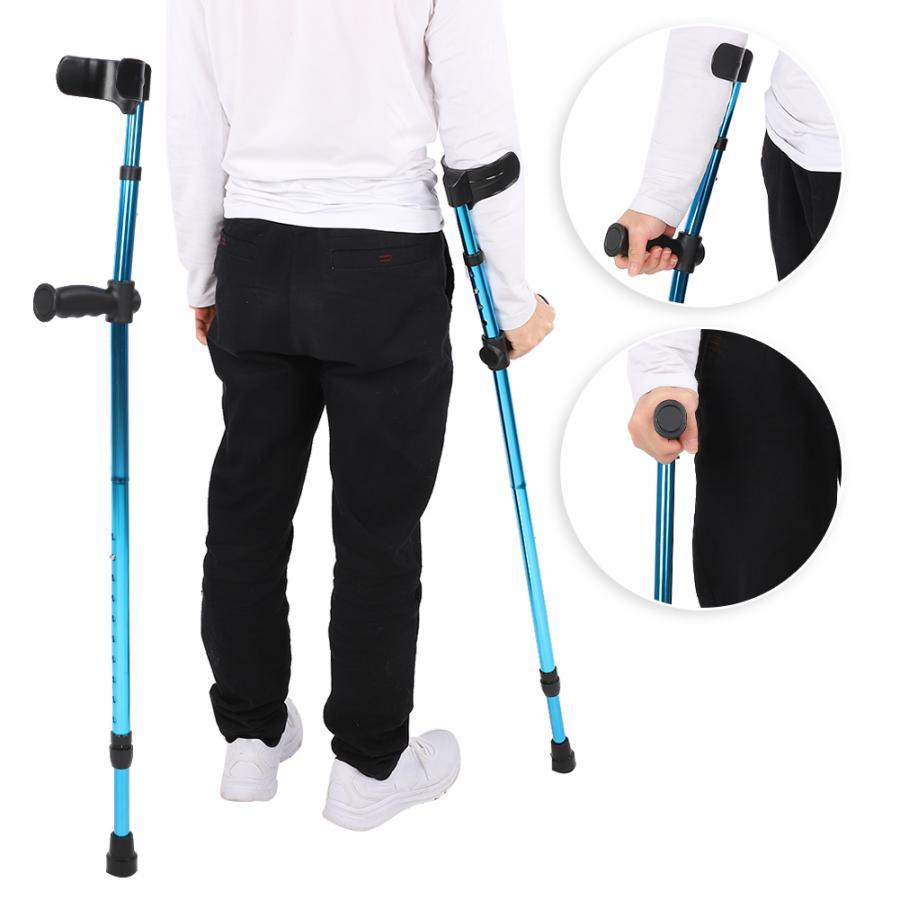Tragbare Klapp Gehstock Einstellbare Teleskop Unterarm Zuckerrohr Krücke Aluminium Legierung Krücken für Behinderte Senioren Ältere ein