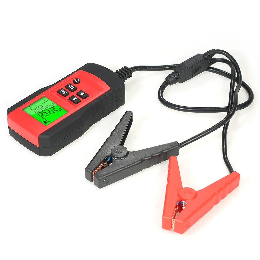 Analizador Digital de batería de 12V, probador de pantalla LCD, Analizador de batería de coche, herramienta de diagnóstico de batería de vehículo automotriz AE300