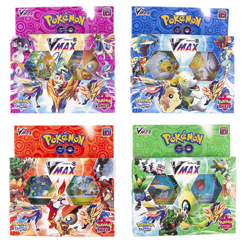 54Pcs/box Pokemon Go Sword & Shield Vmax Cards Collectible Trading Card Game Toys