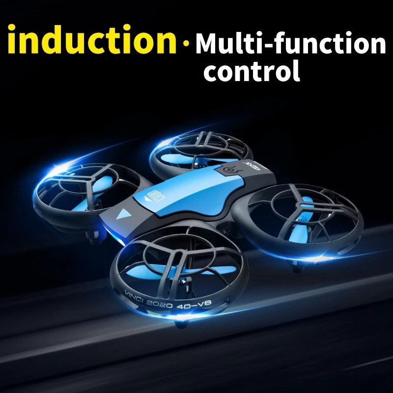 V8 Mini Drone 4K 1080P HD RC Quadcopter WiFi Fpv Drones Air Pressure Altitude Hold Black RC Helicopter UAV Aircraft Toy for Kids enlarge