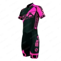 sila straight pulley mens skating bodysuit professional team speed skating triathlon cycling suit jumpsuit ropa ciclismo jersey