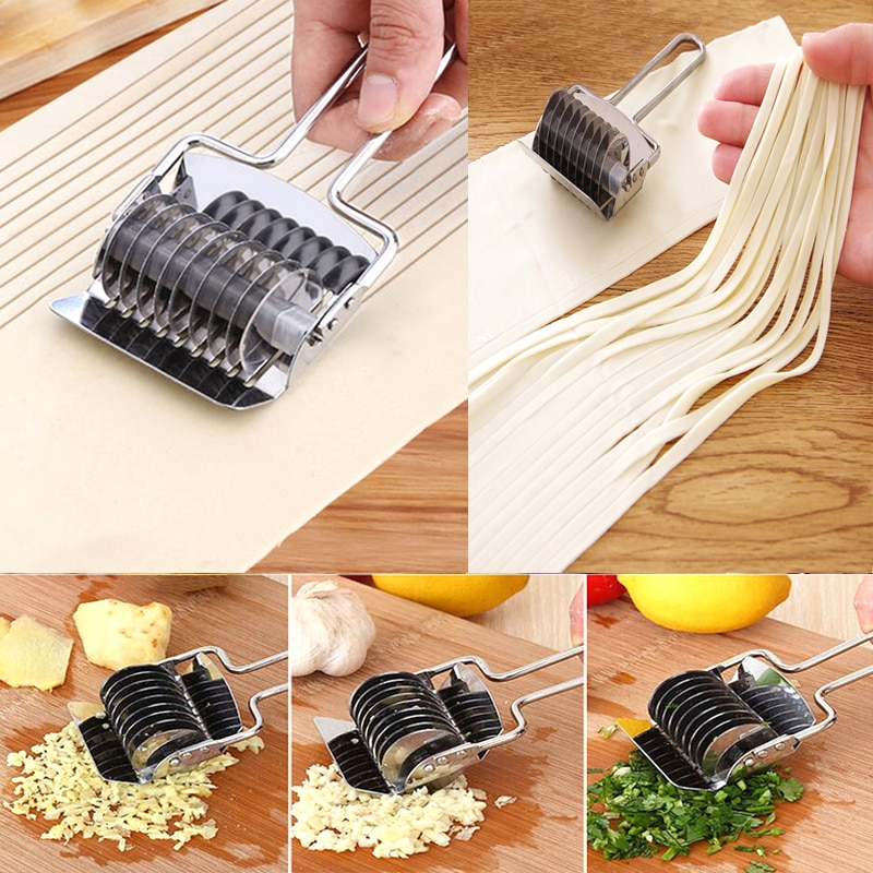 Stainless steel household manual noodle press hand knife more pasta machine multi-function rolling pin shredder chopped spices недорого