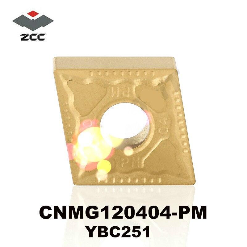 Оригинальный ZCC CT CNMG120404-PM YBC251 CNMG 120404 карбидные вставки CNMG431 для стальных токарных станков из нержавеющей стали