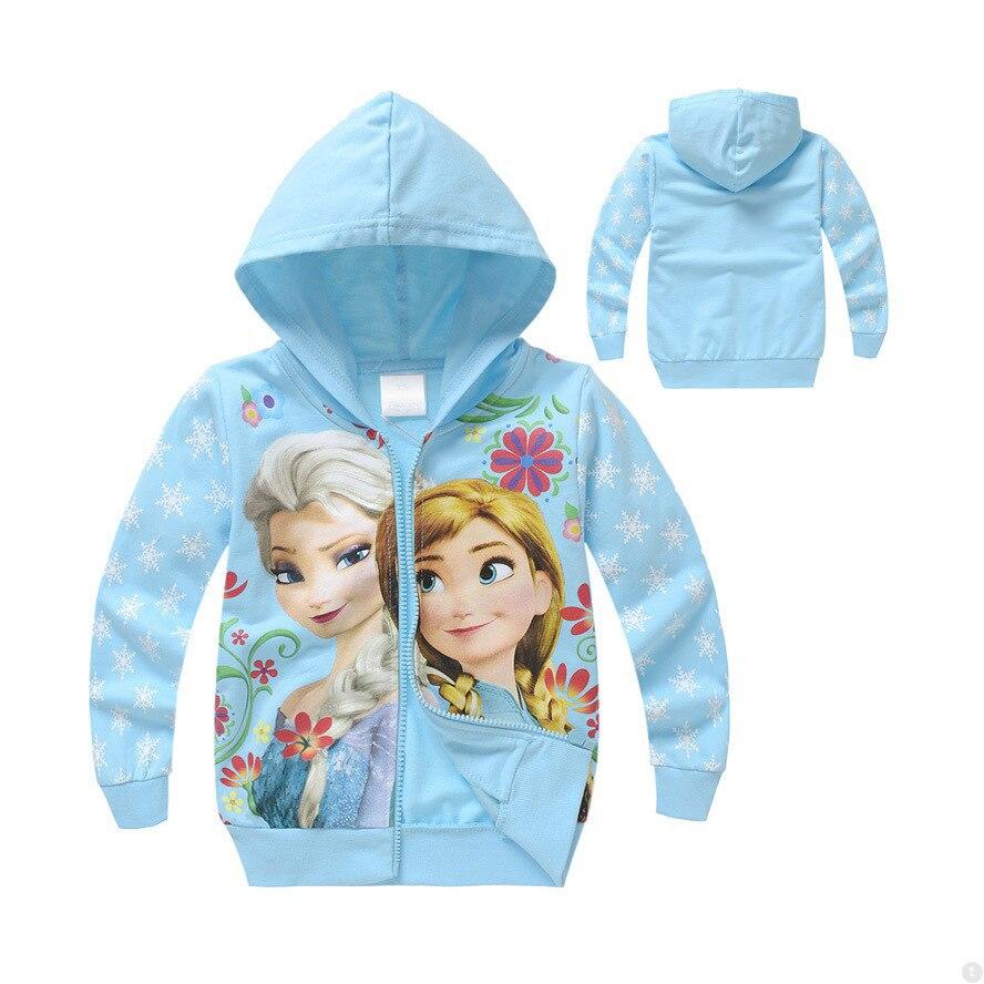 Толстовка с капюшоном для маленьких девочек, с изображением Анны и Эльзы, Детская толстовка на молнии с длинными рукавами, весенне осенняя куртка, Детские кофты с капюшоном|Толстовки и кофты| | АлиЭкспресс