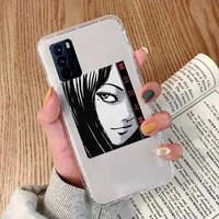 junji ito japanese manga horror phone case transparent for oppo a 3 5 33 7 8 52 9 11 32 53s f 9 11 realme x t 7 50 7 pro