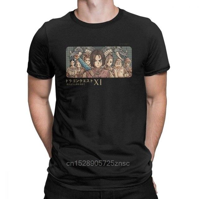 Camisetas estampadas Vintage Legendary Heroes Dragon Quest para hombre, Camiseta de algodón, juego Xi Rpg, camiseta de manga corta Toriyama Slime