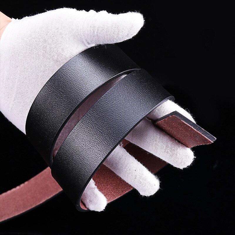 Мужской кожаный ремень без зуба с пряжкой, Простой Модный деловой кожаный ремень 3,5 см, мужской ремень без зуба с пряжкой, пояс с корсетом