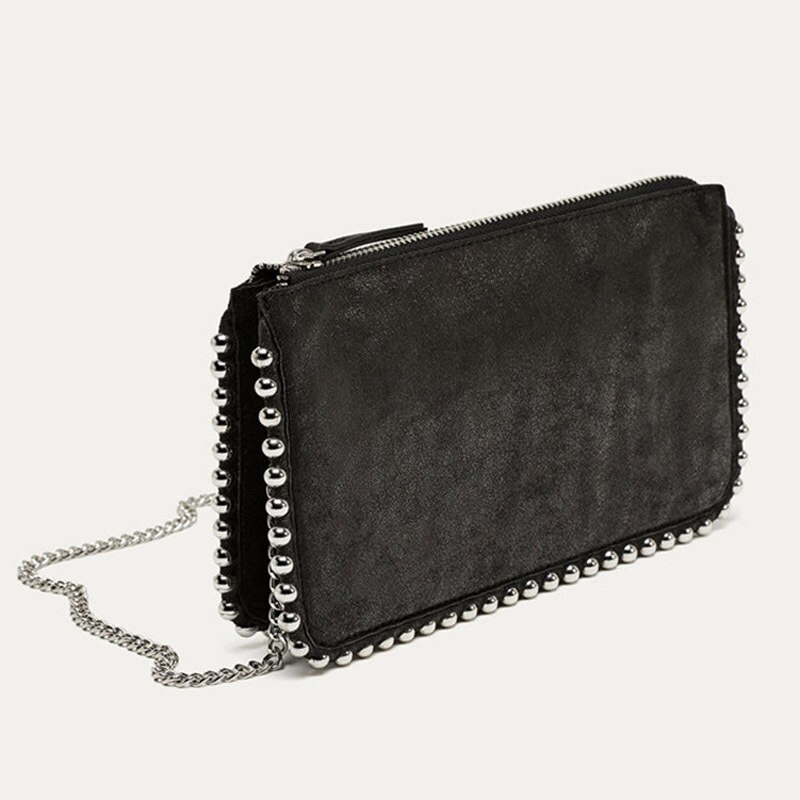 Fashion Chains Beading Women Crossbody Bags Designer Handbags Luxury Matte Leather Shoulder Bag Brand Small Rivet Flap Purse New