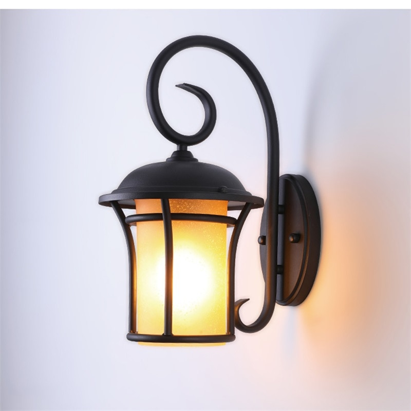 BROTHER Outdoor Wall Light Classical LED Sconces Retro Lamp Waterproof IP65 Decorative For Home Porch Villa enlarge
