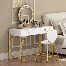 Modern Minimalist Small Mini Nordic Makeup Bedroom Chairs Furniture Dresser Luxury Princess Women Bedroom Vanity Table Chairs