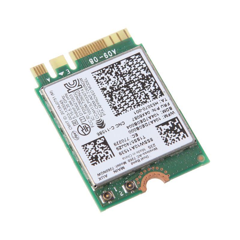 Para In-tel 7260NGW 7260AC 2.4/5G BT4.0 FRU 04X6007 04W3806 Cartão Wi-fi Sem Fio para Thinkpad x230s x240s t440 x240 X250 w540 t540