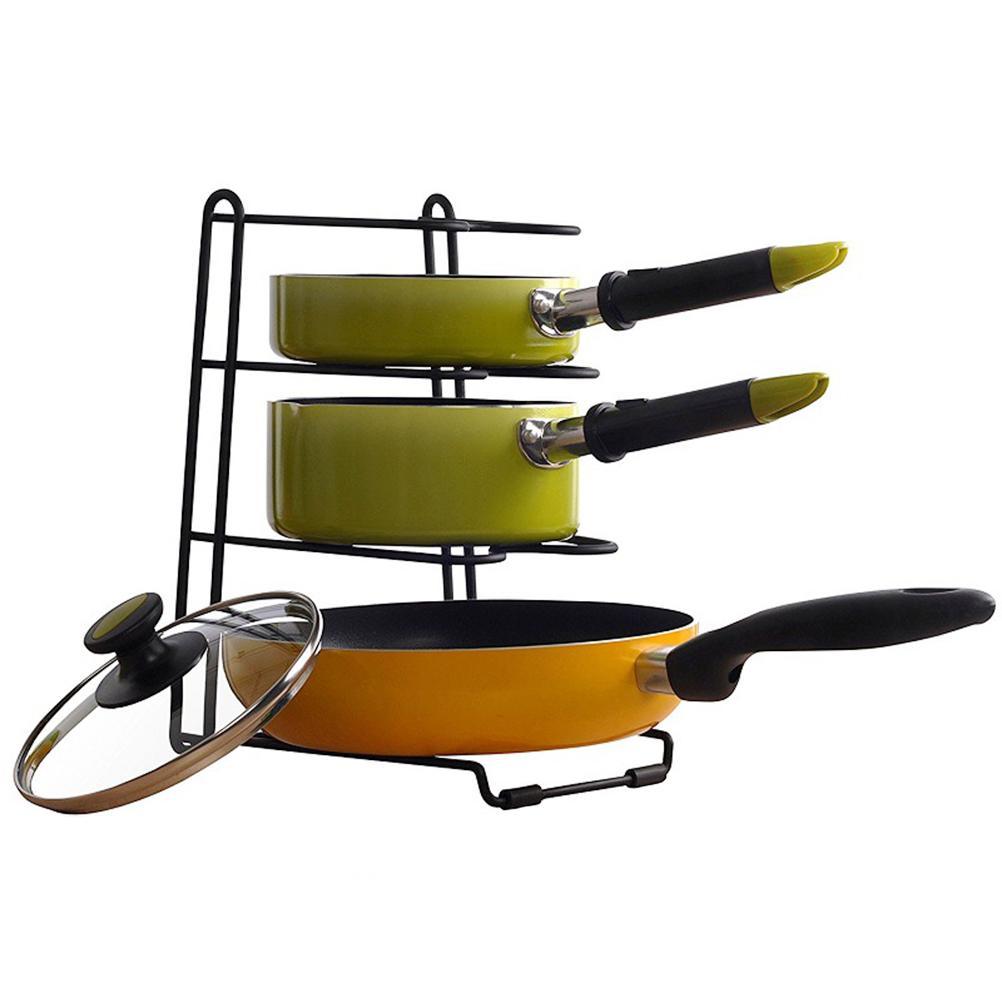 AliExpress - Multifunction Heavy Duty Pan Organizer Stainless Steel Rack Space Saving Cookware Pot Rack Kitchen Storage Kitchen Accessory