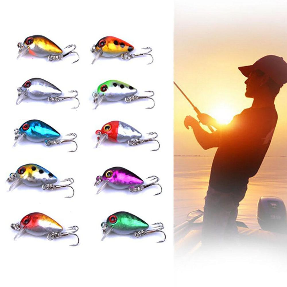10 Pcs 3cm 1.5g Mini Minnow Bait Kit 3D Fish Eyes Artificial Lure For Outdoor Saltwater Fishing enlarge