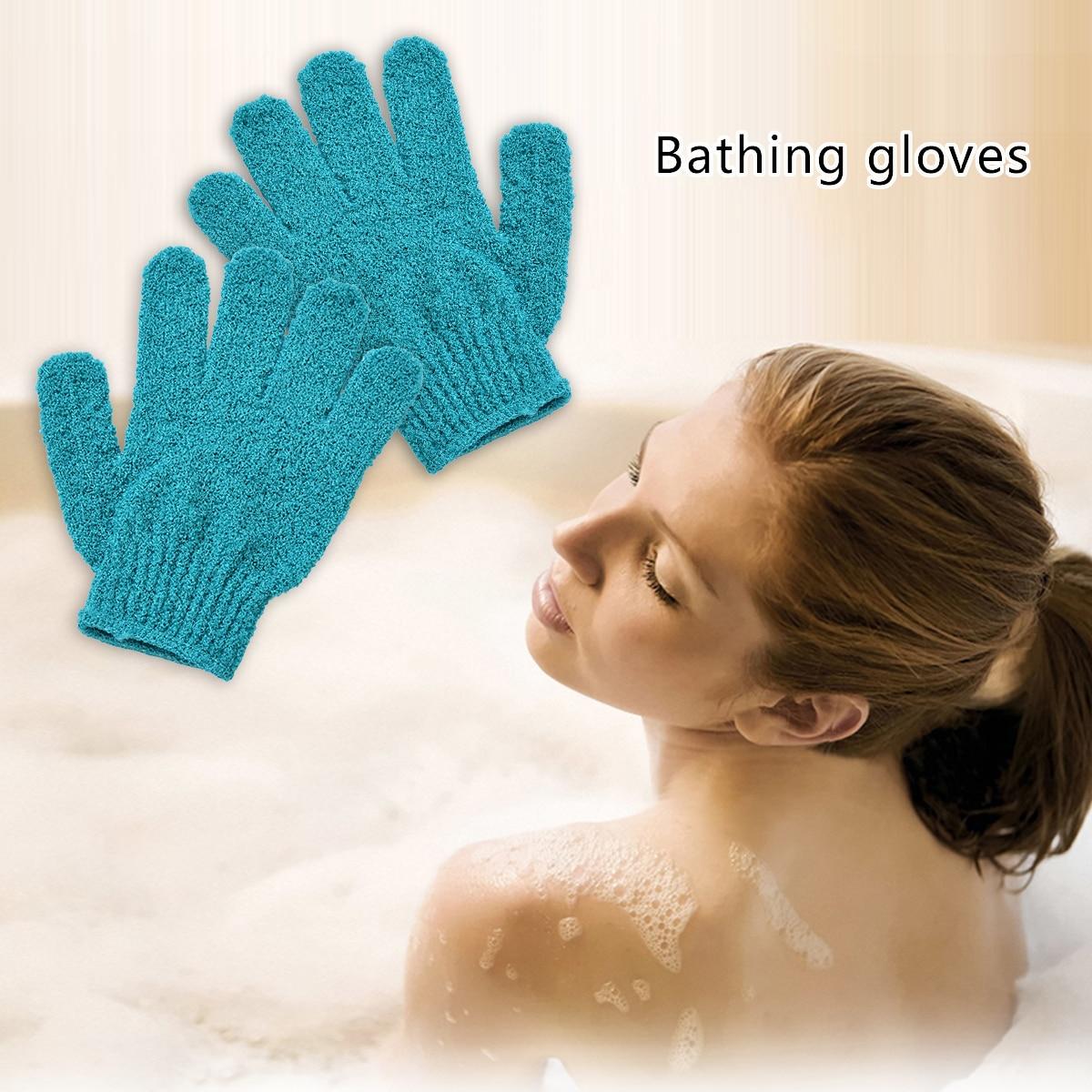 Guantes exfoliantes de alta calidad Mitt baño ducha exfoliante Tan piel muerta exfoliador de eliminación al azar