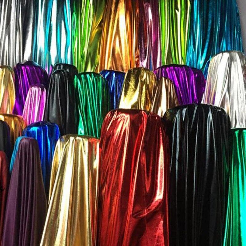 150Cm * 50Cm Dance Stage Shiny Lycra Spandex Stof Bronzing Speciale Bruiloft Kostuum Stof Diy Stage Cosplay Kostuum jurk