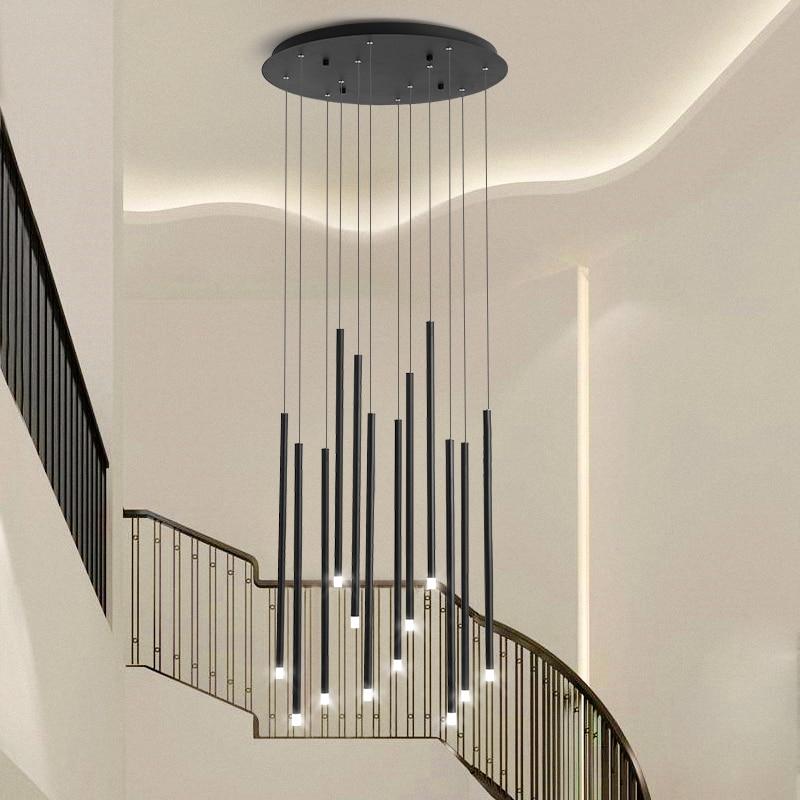 مصباح سقف LED دوار ، تصميم إبداعي ، بسيط وحديث ، تصميم مبتكر ، مثالي لغرفة المعيشة أو السلالم.