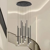 led branch chandelier simple modern duplex rotating staircase chandeliers hall light creative personality living room chandelier
