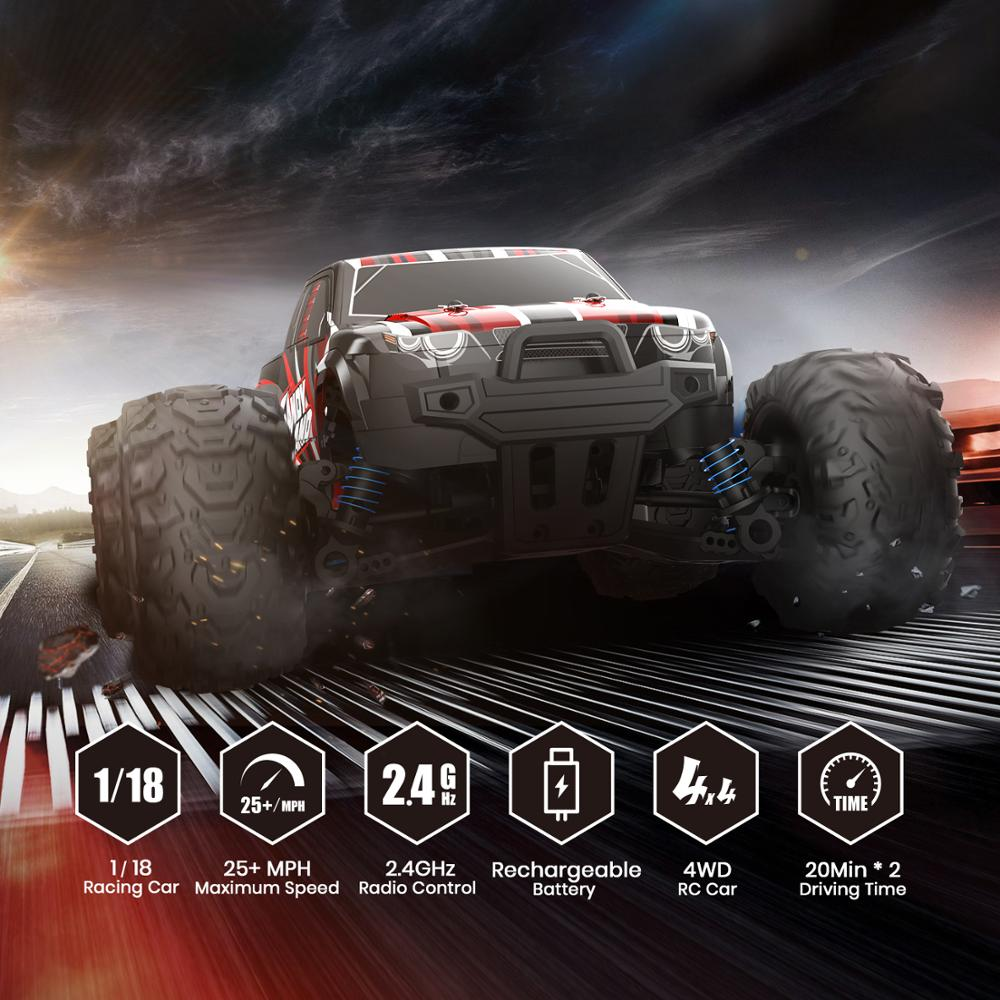 DEERC RC Car Electric 1:18 Scale 30+ MPH 4WD Off Road Monster Trucks All Terrain 40KM/H High Speed Racing Car Toy For Children enlarge