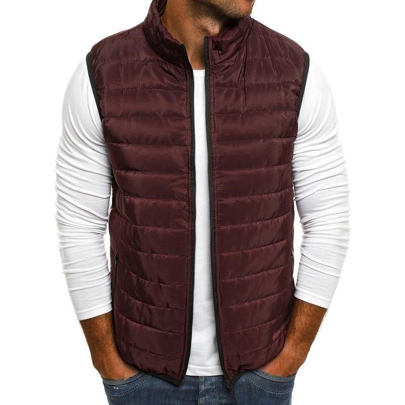 Мужской жилет и пальто ZOGAA, хлопковый мужской жилет, зимний теплый Приталенный жилет для пар, мужская повседневная безрукавка, пальто