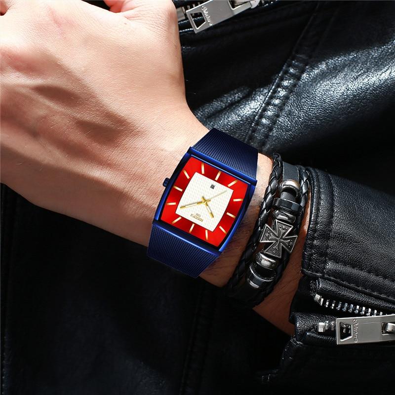 Mens Watch Luxury Brand NIBOSI Wrist Watches for Men Clock Date Waterproof Luminous Quartz Watch Male Clock Relogio Masculino