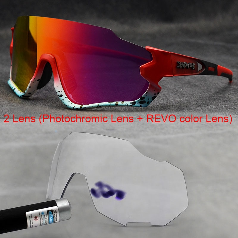 Gafas fotocromáticas para ciclismo, 1 lente para exteriores, gafas deportivas para hombre y mujer, gafas para ciclismo