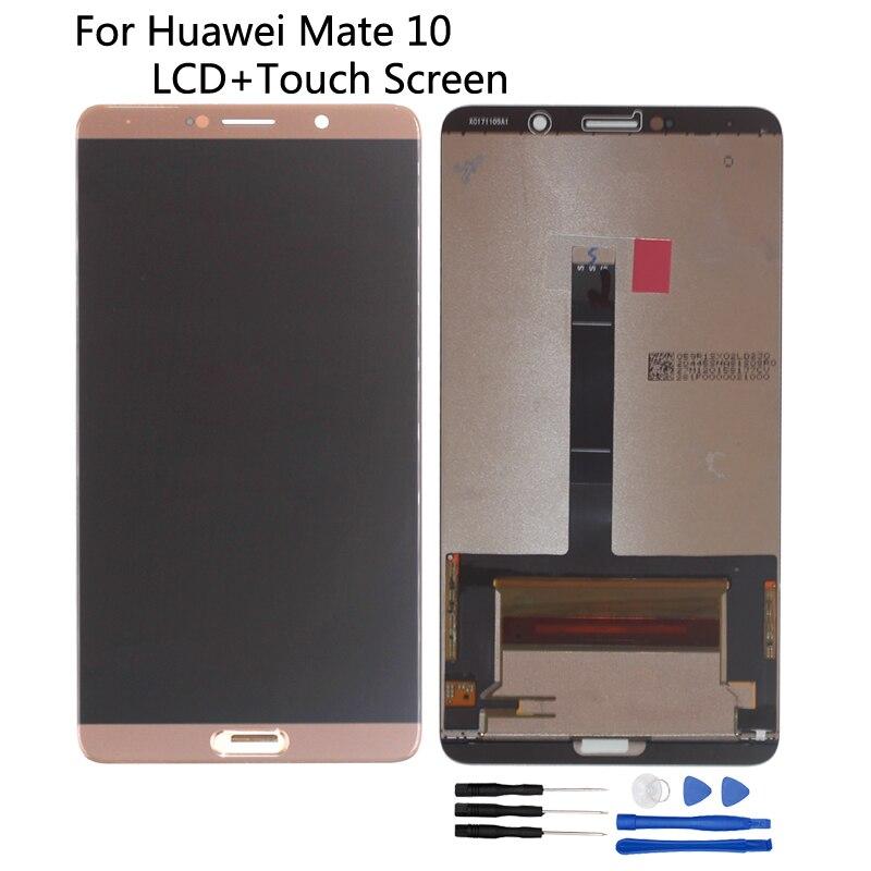 Para huawei companheiro 10 display lcd de toque digitador assembléia original para huawei companheiro 10 alp l09 l29 tela lcd peças do telefone