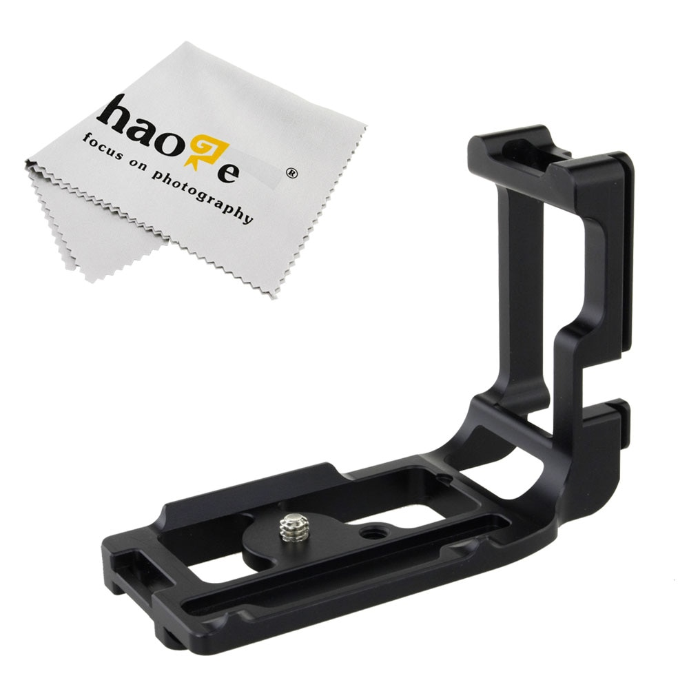 quick release l plate bracket for canon eos 1200d 760d 750d 700d 650d 600d 70d 60d 5ds 6d 7d 5d mark ii iii camera accessories Haoge Vertical Shoot QR Quick Release L Plate Camera Bracket Holder for Canon 5D Mark III 5D3 5DS 5DSR Body Camera