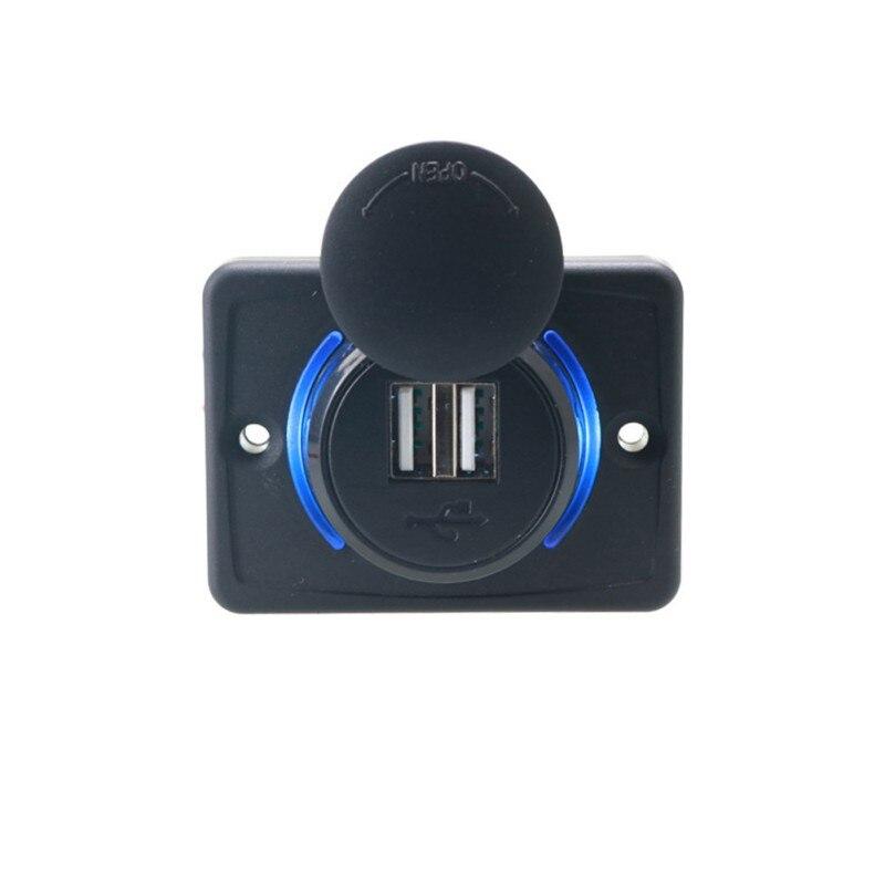 Cargador usb para motocicleta y coche con modificación del hogar 3.1A 12-24V salida 5V cargador adaptador LED apertura cubierta de polvo impermeable
