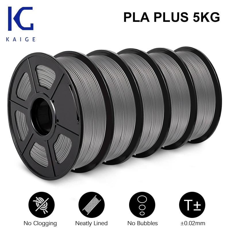 KAIGE 3D Filamento Pla PLUS 1.75MM 5KG 100% No Air Bubbles 3d printer supplies With Spool Filament For FDM impresora 3d 3D Pens
