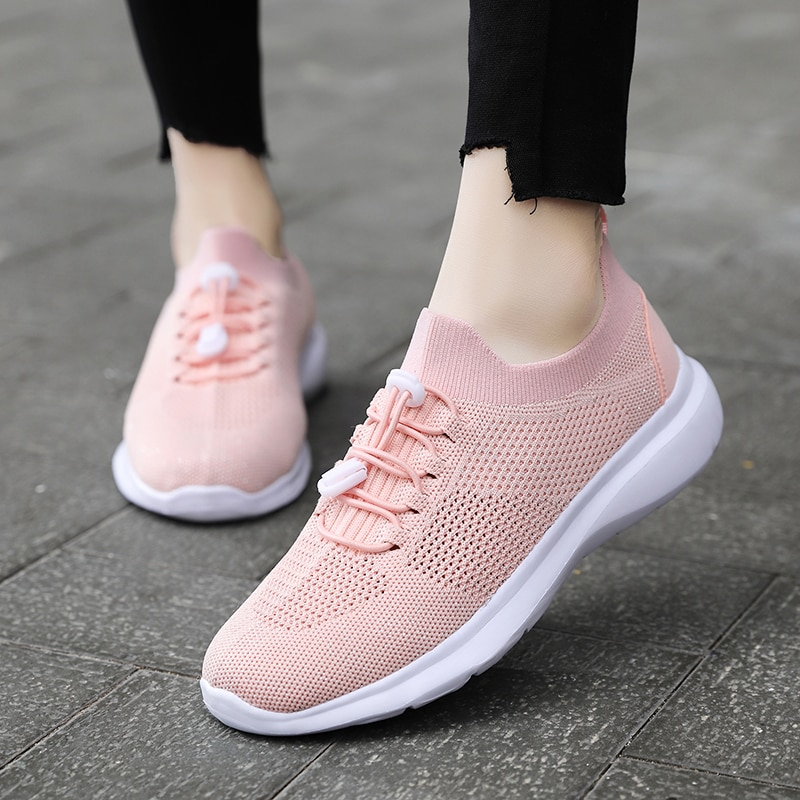 Women Ladies Summer Fashion Breathable Mesh Basket Vulcanize Flats Lace Up Tenis Casual Running Gym Female Womens Sneakers Shoes fashion women sneakers casual shoes female mesh summer shoes breathable trainers ladies basket femme tenis feminino