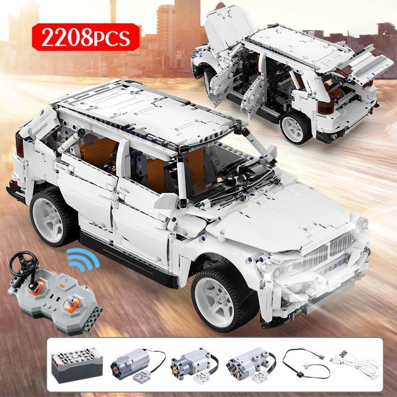 2208 Uds todoterreno de Control remoto vehículo de carretera en miniatura bloques de construcción ciudad técnica RC/no RC coches de carreras ladrillos regalos juguetes para niños