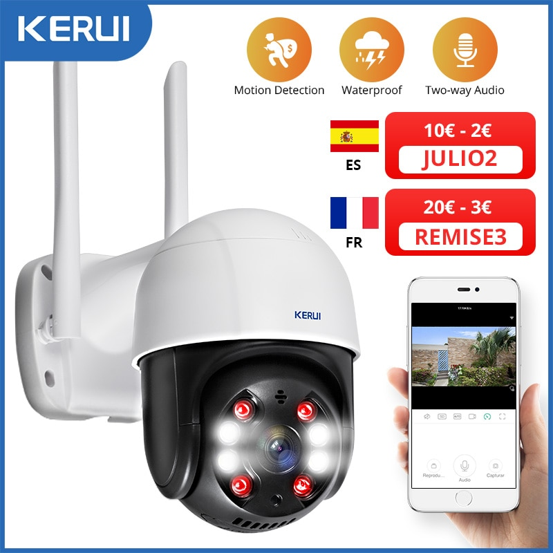 KERUI في الهواء الطلق مقاوم للماء اللاسلكية 3MP واي فاي كاميرا IP قبة 4X PTZ التكبير الرقمي الأشعة تحت الحمراء كاميرا أمنة للبيت CCTV المراقبة بالفيدي...