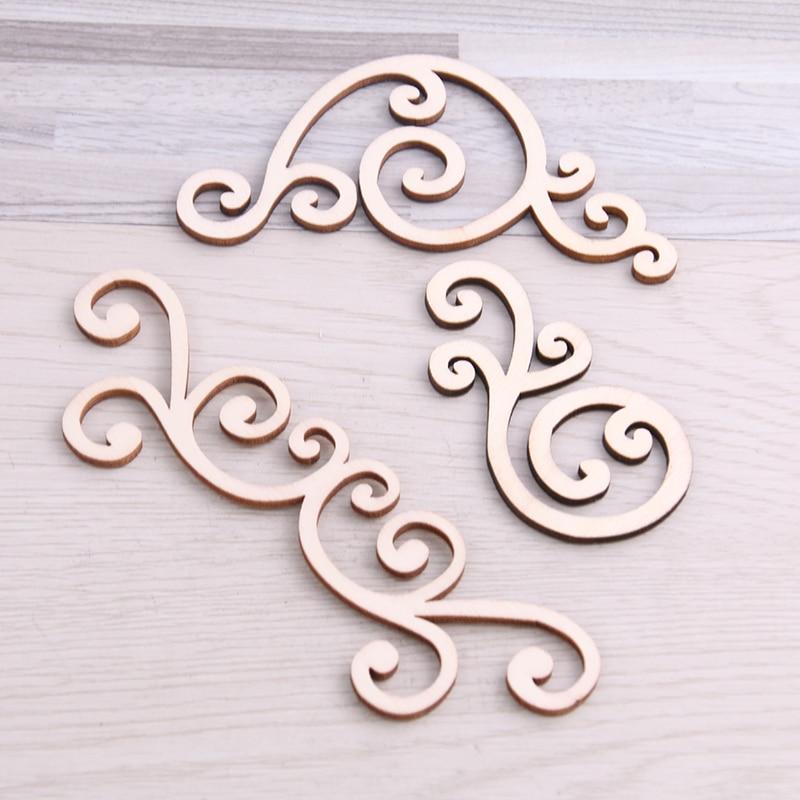 Dulce campana, 18 Uds., marco de encaje mezclado, diseño de madera, arte de colección de recortes para accesorios hechos a mano, costura, decoración del hogar DIY